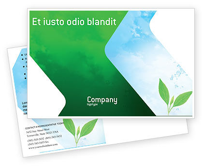 Nature & Environment: Pure Nature Postcard Template #02183
