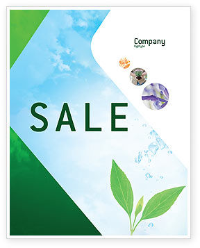 Nature & Environment: Pure Nature Sale Poster Template #02183