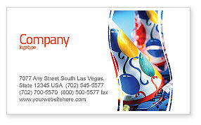 Holiday/Special Occasion: Party Decor Business Card Template #02184