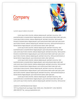 Party Decor Letterhead Template, 02184, Holiday/Special Occasion — PoweredTemplate.com