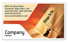 Business: Task List Business Card Template #02185