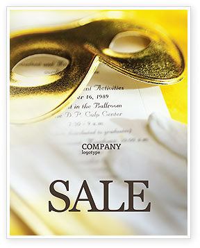 Art & Entertainment: Masquerade Sale Poster Template #02188
