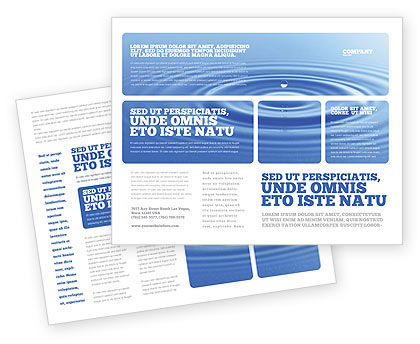Blue Water Brochure Template Design and Layout, Download Now ...