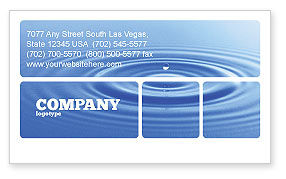 Water Purification Business Card Template, 02190, Nature & Environment — PoweredTemplate.com