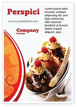 Food & Beverage: Bananensplit Advertentie Template #02192