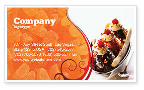 Food & Beverage: Banana Split Business Card Template #02192