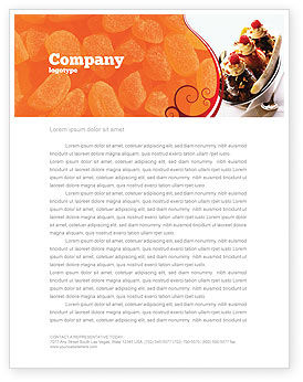 Food & Beverage: Banana Split Letterhead Template #02192