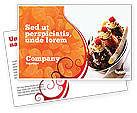 Food & Beverage: Banana Split Postcard Template #02192