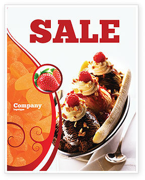 Food & Beverage: Modello Poster - Banana split #02192