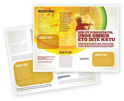 Musician Brochure Template, 02194, Art & Entertainment — PoweredTemplate.com