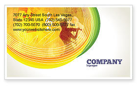 Musician Business Card Template, 02194, Art & Entertainment — PoweredTemplate.com