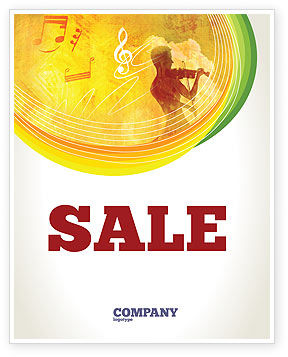 Art & Entertainment: Musician Sale Poster Template #02194