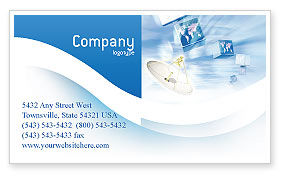 Telecommunication: Broadcasting Business Card Template #02196