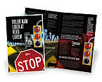 Education & Training: Road Sign Brochure Template #02198