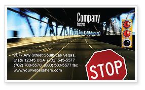 Road Sign Business Card Template, 02198, Education & Training — PoweredTemplate.com