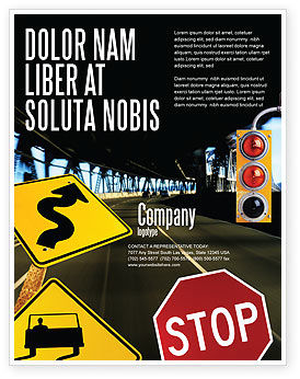 Education & Training: Road Sign Flyer Template #02198