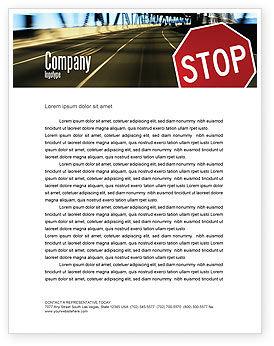 Education & Training: Modello Carta Intestata - Segnale stradale #02198