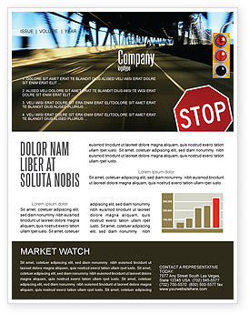 Road Sign Newsletter Template