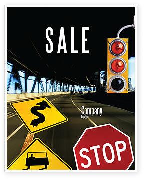 Education & Training: Modello Poster - Segnale stradale #02198