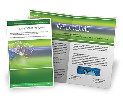 Telecommunication: Technology Brochure Template #02203