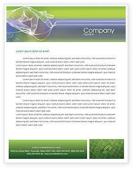 Technology Letterhead Template, 02203, Telecommunication — PoweredTemplate.com