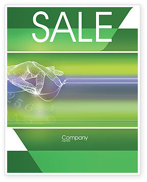 Technology Sale Poster Template, 02203, Telecommunication — PoweredTemplate.com