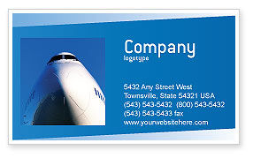 Aircraft Ready To Fly Business Card Template, 02204, Cars/Transportation — PoweredTemplate.com