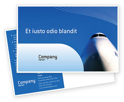 Aircraft Ready To Fly Postcard Template, 02204, Cars/Transportation — PoweredTemplate.com
