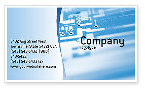 Technology, Science & Computers: Microprocessor Business Card Template #02205