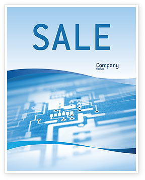 Technology, Science & Computers: Microprocessor Sale Poster Template #02205