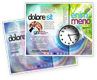 Business: Clock Face Brochure Template #02210