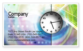 Business: Clock Face Business Card Template #02210