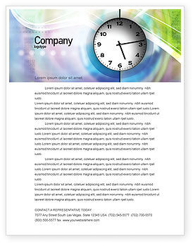 Clock Face Letterhead Template, 02210, Business — PoweredTemplate.com