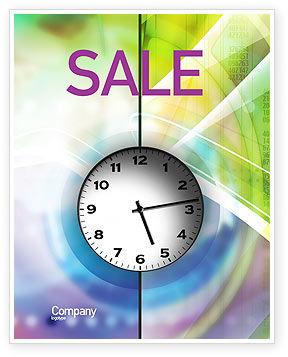 Business: Clock Face Sale Poster Template #02210
