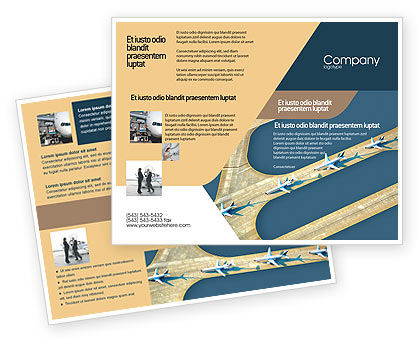 Airport Brochure Template, 02212, Cars/Transportation — PoweredTemplate.com