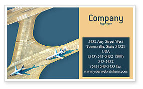 Airport Business Card Template