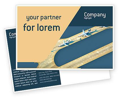 Airport Postcard Template, 02212, Cars/Transportation — PoweredTemplate.com