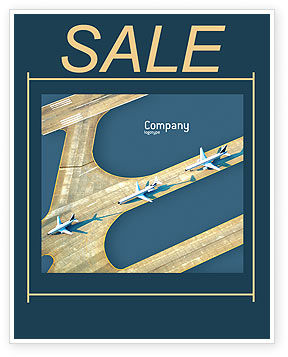 Cars/Transportation: Airport Sale Poster Template #02212