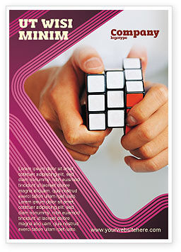 Business Concepts: Puzzle Rubik's Cube Ad Template #02213