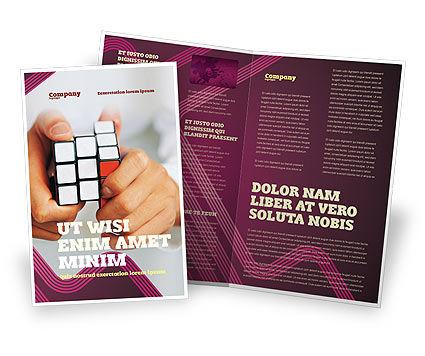 Puzzle Rubik's Cube Brochure Template, 02213, Business Concepts — PoweredTemplate.com