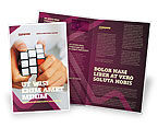 Business Concepts: Puzzle Rubik's Cube Brochure Template #02213