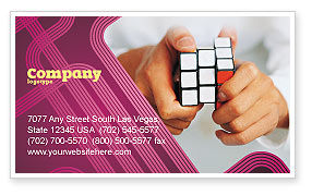 Puzzle Rubik's Cube Business Card Template