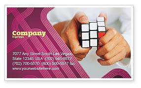 Puzzle Rubik's Cube Business Card Template, 02213, Business Concepts — PoweredTemplate.com