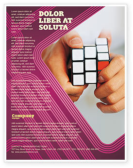 Puzzle Rubik's Cube Flyer Template, 02213, Business Concepts — PoweredTemplate.com