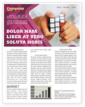 Business Concepts: Puzzle Rubik's Cube Newsletter Template #02213