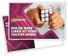 Business Concepts: Puzzle Rubik's Cube Postcard Template #02213