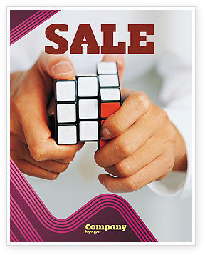Business Concepts: Puzzle Rubik's Cube Sale Poster Template #02213