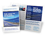 Construction: Highway In A Blue Distance Brochure Template #02214