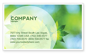 Nature & Environment: Flora Business Card Template #02215