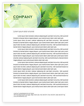 Nature & Environment: Flora Letterhead Template #02215